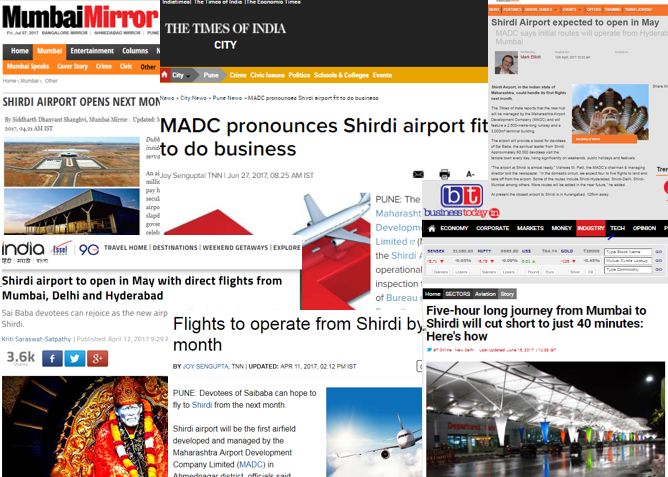 shirdi airport news