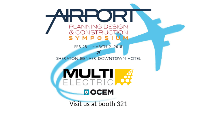 Save the Date! Multi Electric will be at the 2018 Airport Planning, Design and Construction Symposium