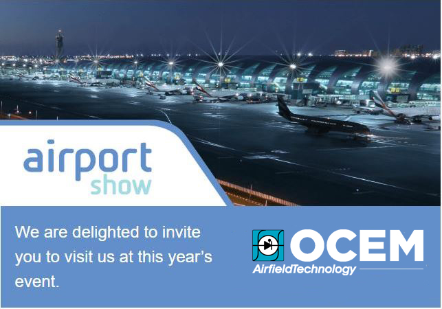 Save the Date! May 7 – 9, We are at Airport Show 2018, Dubai, stand no. 6500!